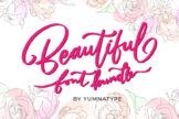 Last preview image of Beautiful Font Bundle