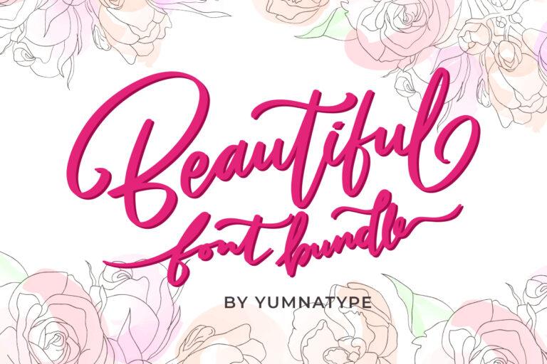 Preview image of Beautiful Font Bundle