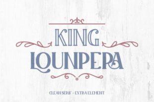 King Lounpera Display font