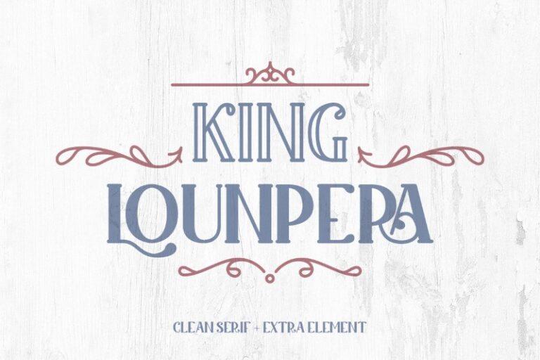 Preview image of King Lounpera Display font
