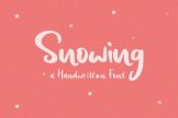Last preview image of Snowing Handwritten Font