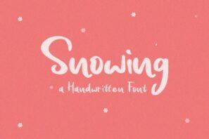 Snowing Handwritten Font
