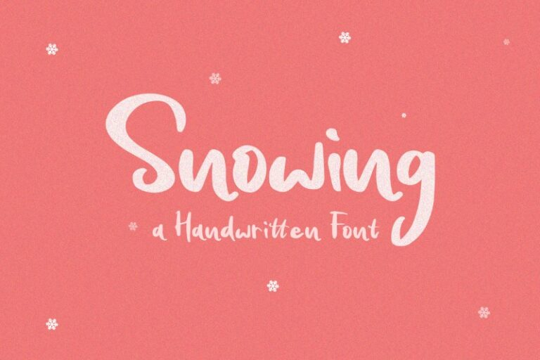 Preview image of Snowing Handwritten Font