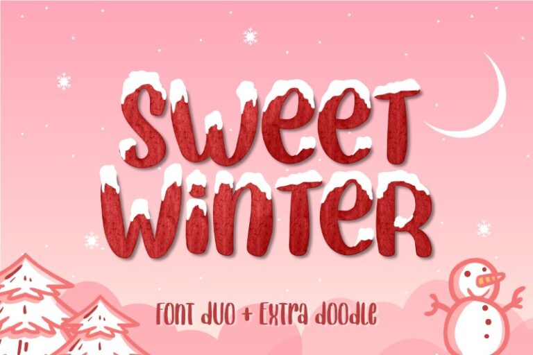 Preview image of Sweet Winter – Font Duo Extras