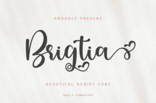 Brigtia Lovely Swash Font