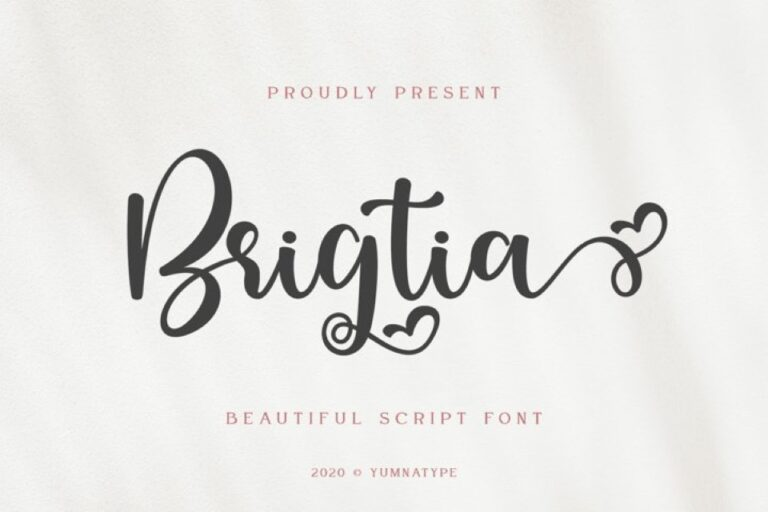 Preview image of Brigtia Lovely Swash Font