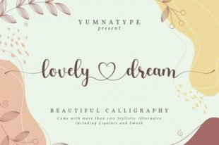 Lovely Dream-Beautiful Calligraphy Font