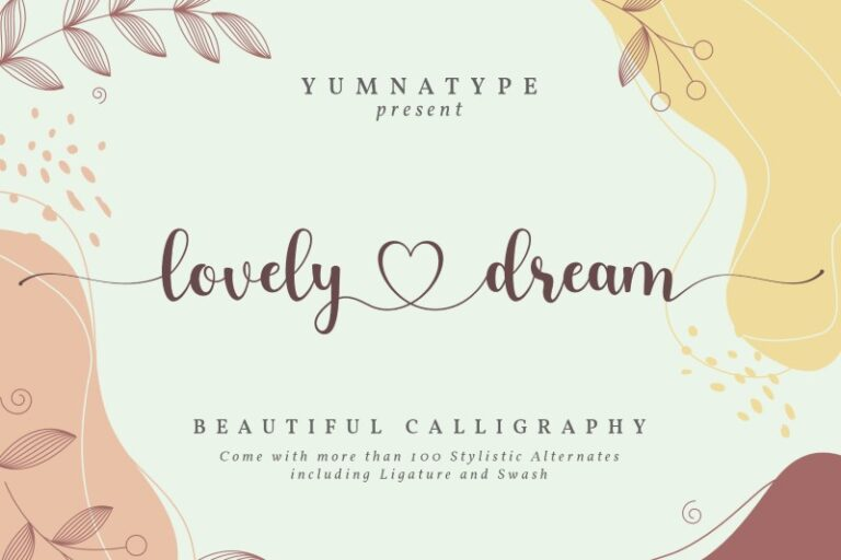 Preview image of Lovely Dream-Beautiful Calligraphy Font