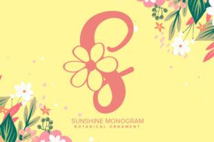 Sunshine Monogram