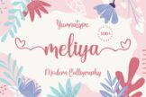 Last preview image of Meliya Script