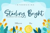 Last preview image of Starling Bright-Elegant Handwritten Font