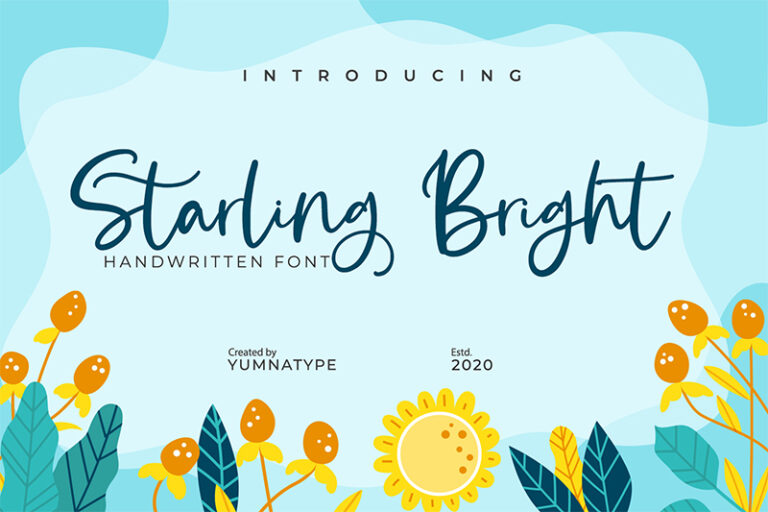 Preview image of Starling Bright-Elegant Handwritten Font