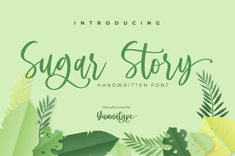 Preview image of Sugar Story-Sweet Handwritten Font