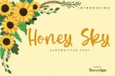 Last preview image of Honey Sky-Handwritten Font