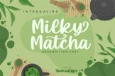 Last preview image of Milky Matcha-Beautiful Handwritten Font