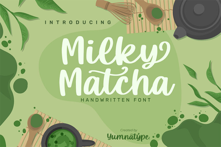 Preview image of Milky Matcha-Beautiful Handwritten Font