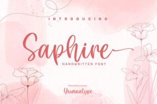 Saphire-Elegant Handwritten Font
