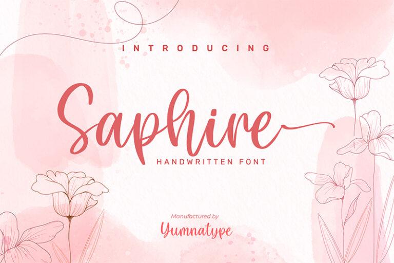 Preview image of Saphire-Elegant Handwritten Font